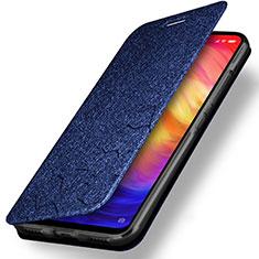 Coque Clapet Portefeuille Livre Cuir pour Xiaomi Redmi Note 7 Bleu