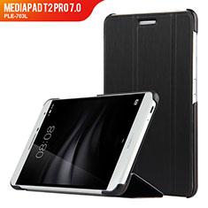 Coque Clapet Portefeuille Livre Cuir R01 pour Huawei MediaPad T2 Pro 7.0 PLE-703L Noir
