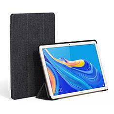 Coque Clapet Portefeuille Livre Tissu pour Huawei MatePad 10.8 Noir