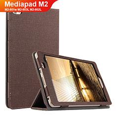 Coque Clapet Portefeuille Livre Tissu pour Huawei Mediapad M2 8 M2-801w M2-803L M2-802L Marron