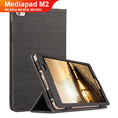 Coque Clapet Portefeuille Livre Tissu pour Huawei Mediapad M2 8 M2-801w M2-803L M2-802L Noir