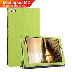 Coque Clapet Portefeuille Livre Tissu pour Huawei Mediapad M2 8 M2-801w M2-803L M2-802L Vert