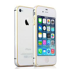 Coque Contour Luxe Aluminum Metal pour Apple iPhone 4 Argent