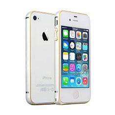 Coque Contour Luxe Aluminum Metal pour Apple iPhone 4S Argent