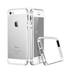 Coque Contour Luxe Aluminum Metal pour Apple iPhone 5S Argent