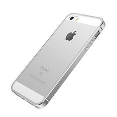 Coque Contour Luxe Aluminum Metal pour Apple iPhone SE Argent