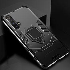 Coque Contour Silicone et Plastique Housse Etui Mat avec Aimant Magnetique Support pour Realme X3 SuperZoom Noir