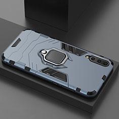 Coque Contour Silicone et Plastique Housse Etui Mat avec Magnetique Support pour Xiaomi Mi 9 Pro Bleu
