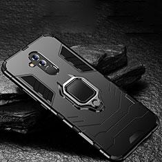 Coque Contour Silicone et Plastique Housse Etui Mat avec Support A01 pour Huawei Mate 20 Lite Noir