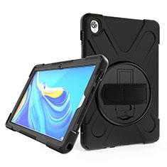 Coque Contour Silicone et Plastique Housse Etui Mat avec Support A01 pour Huawei MatePad 10.8 Noir