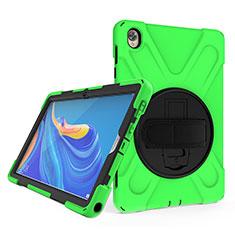 Coque Contour Silicone et Plastique Housse Etui Mat avec Support A01 pour Huawei MatePad 10.8 Vert