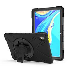 Coque Contour Silicone et Plastique Housse Etui Mat avec Support A01 pour Huawei MediaPad M6 10.8 Noir