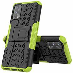 Coque Contour Silicone et Plastique Housse Etui Mat avec Support A01 pour Realme 7 Pro Vert