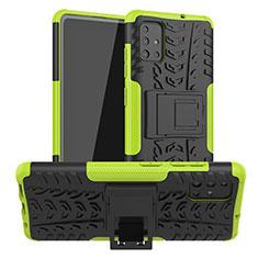 Coque Contour Silicone et Plastique Housse Etui Mat avec Support A01 pour Samsung Galaxy A51 5G Vert
