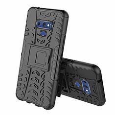 Coque Contour Silicone et Plastique Housse Etui Mat avec Support A01 pour Samsung Galaxy Note 9 Noir