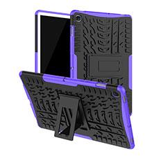 Coque Contour Silicone et Plastique Housse Etui Mat avec Support A01 pour Samsung Galaxy Tab S5e 4G 10.5 SM-T725 Violet