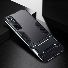 Coque Contour Silicone et Plastique Housse Etui Mat avec Support A01 pour Xiaomi Mi 10 Ultra Noir