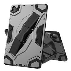 Coque Contour Silicone et Plastique Housse Etui Mat avec Support A02 pour Huawei MediaPad M6 10.8 Noir
