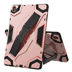 Coque Contour Silicone et Plastique Housse Etui Mat avec Support A02 pour Huawei MediaPad M6 10.8 Or Rose