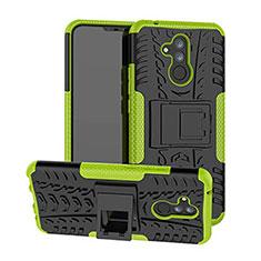 Coque Contour Silicone et Plastique Housse Etui Mat avec Support A03 pour Huawei Mate 20 Lite Vert
