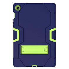 Coque Contour Silicone et Plastique Housse Etui Mat avec Support A03 pour Samsung Galaxy Tab S5e 4G 10.5 SM-T725 Bleu