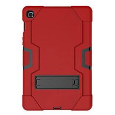 Coque Contour Silicone et Plastique Housse Etui Mat avec Support A03 pour Samsung Galaxy Tab S5e 4G 10.5 SM-T725 Rouge