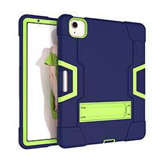 Coque Contour Silicone et Plastique Housse Etui Mat avec Support pour Apple New iPad Air 10.9 (2020) Vert