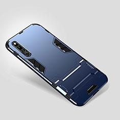 Coque Contour Silicone et Plastique Housse Etui Mat avec Support pour Huawei Honor Magic 2 Bleu