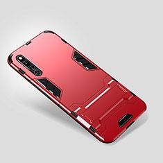 Coque Contour Silicone et Plastique Housse Etui Mat avec Support pour Huawei Honor Magic 2 Rouge