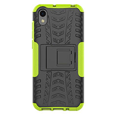 Coque Contour Silicone et Plastique Housse Etui Mat avec Support pour Huawei Honor Play 8 Vert