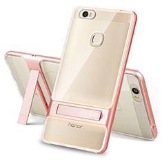 Coque Contour Silicone et Plastique Housse Etui Mat avec Support pour Huawei Honor V8 Max Clair