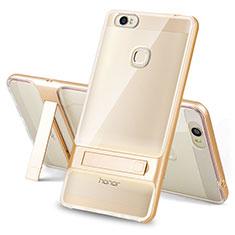 Coque Contour Silicone et Plastique Housse Etui Mat avec Support pour Huawei Honor V8 Max Or