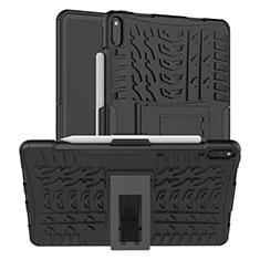 Coque Contour Silicone et Plastique Housse Etui Mat avec Support pour Huawei MatePad Pro Noir