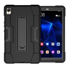 Coque Contour Silicone et Plastique Housse Etui Mat avec Support pour Huawei MediaPad M6 8.4 Noir
