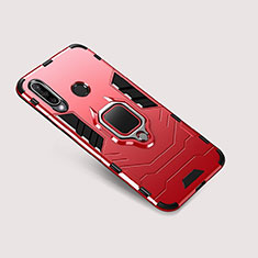 Coque Contour Silicone et Plastique Housse Etui Mat avec Support pour Huawei Nova 4e Rouge