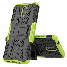Coque Contour Silicone et Plastique Housse Etui Mat avec Support pour Nokia 2.3 Vert