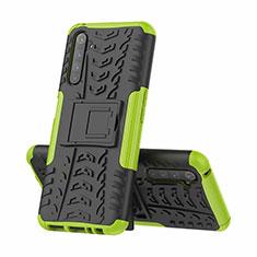 Coque Contour Silicone et Plastique Housse Etui Mat avec Support pour Realme 6 Pro Vert