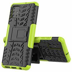 Coque Contour Silicone et Plastique Housse Etui Mat avec Support pour Samsung Galaxy A51 4G Vert
