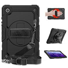 Coque Contour Silicone et Plastique Housse Etui Mat avec Support pour Samsung Galaxy Tab A7 Wi-Fi 10.4 SM-T500 Noir
