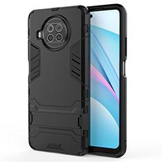 Coque Contour Silicone et Plastique Housse Etui Mat avec Support pour Xiaomi Mi 10T Lite 5G Noir
