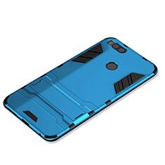 Coque Contour Silicone et Plastique Housse Etui Mat avec Support pour Xiaomi Mi 5X Bleu Ciel