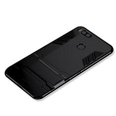 Coque Contour Silicone et Plastique Housse Etui Mat avec Support pour Xiaomi Mi 5X Noir