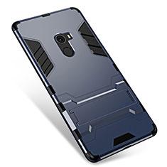 Coque Contour Silicone et Plastique Housse Etui Mat avec Support pour Xiaomi Mi Mix Gris