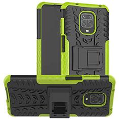 Coque Contour Silicone et Plastique Housse Etui Mat avec Support pour Xiaomi Poco M2 Pro Vert