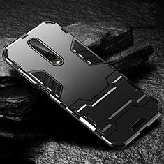 Coque Contour Silicone et Plastique Housse Etui Mat avec Support pour Xiaomi Poco X2 Noir