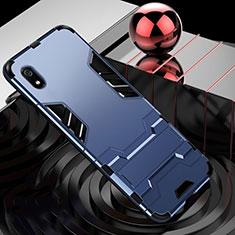 Coque Contour Silicone et Plastique Housse Etui Mat avec Support pour Xiaomi Redmi 7A Bleu