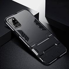 Coque Contour Silicone et Plastique Housse Etui Mat avec Support R01 pour Huawei Honor Play4 Pro 5G Noir