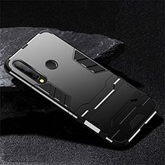 Coque Contour Silicone et Plastique Housse Etui Mat avec Support R02 pour Huawei Honor 20 Lite Noir