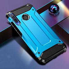 Coque Contour Silicone et Plastique Housse Etui Mat K01 pour Huawei Honor 20 Lite Bleu
