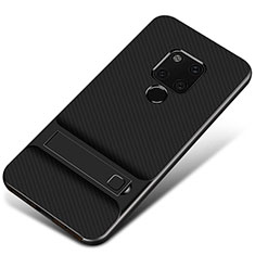 Coque Contour Silicone et Plastique Housse Etui Mat M01 pour Huawei Mate 20 Noir